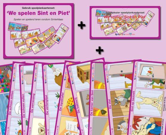 Speelplankaartenset: 'We spelen Sint en Piet'