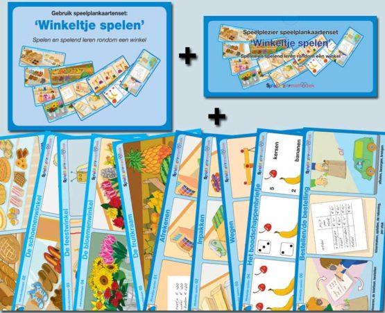 Speelplankaartenset: 'Winkeltje spelen'