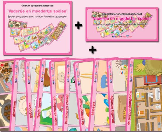 Speelplankaartenset: 'Vadertje en moedertje spelen'