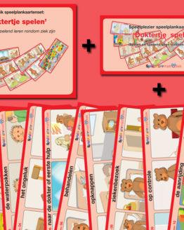 Speelplankaartenset: 'Doktertje spelen'
