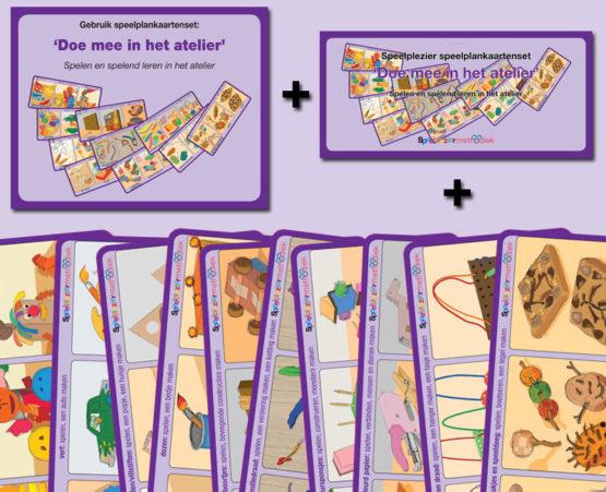Speelplankaartenset 'Doe mee in het atelier'