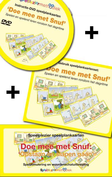 """""""Doe mee met Snuf"""" speelplankaartenset & instructie DVD"""
